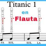 Titanic flauta dulce notas explicadas