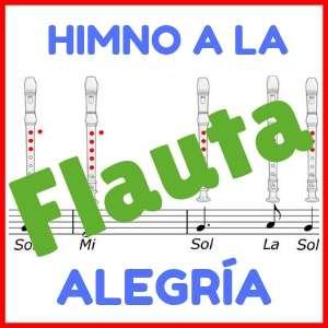 partitura himno de la alegria para flauta