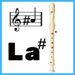 nota la sostenido flauta dulce