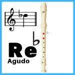 Reb agudo en flauta dulce