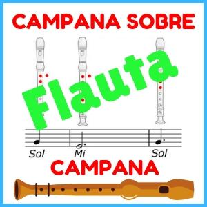notas de campana sobre campana para flauta dulce