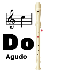 nota do agudo flauta dulce