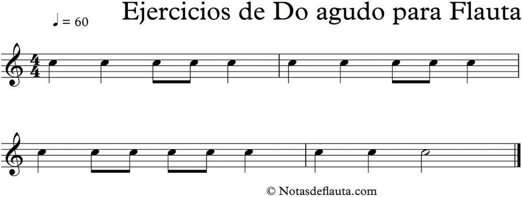 ejercicios con el do agudo para flauta