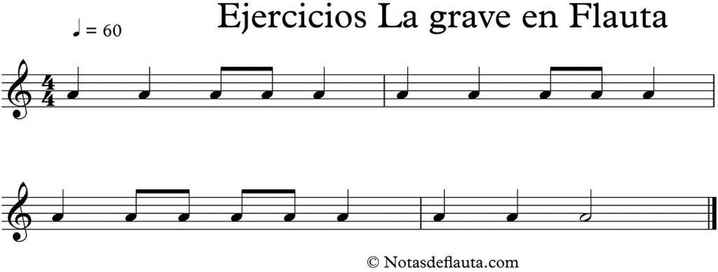 ejercicios para tocar la en flauta