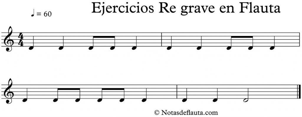 ejercicio para flauta dulce en re grave