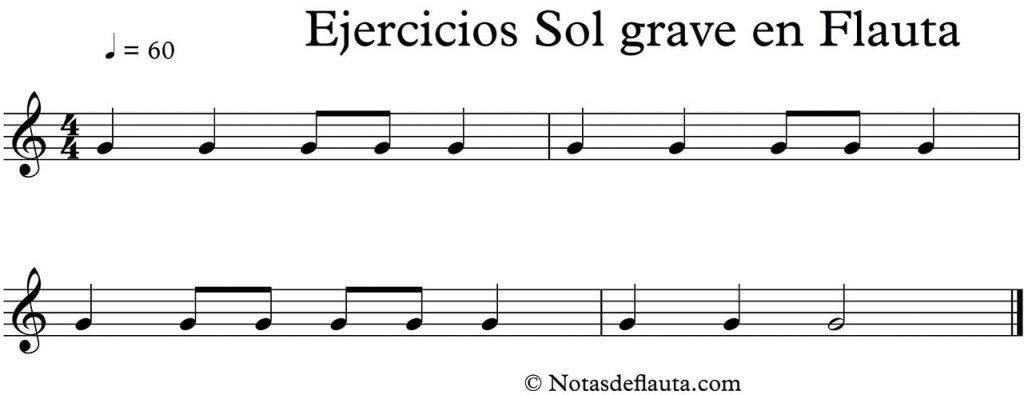 ejercicios de flauta para la nota sol