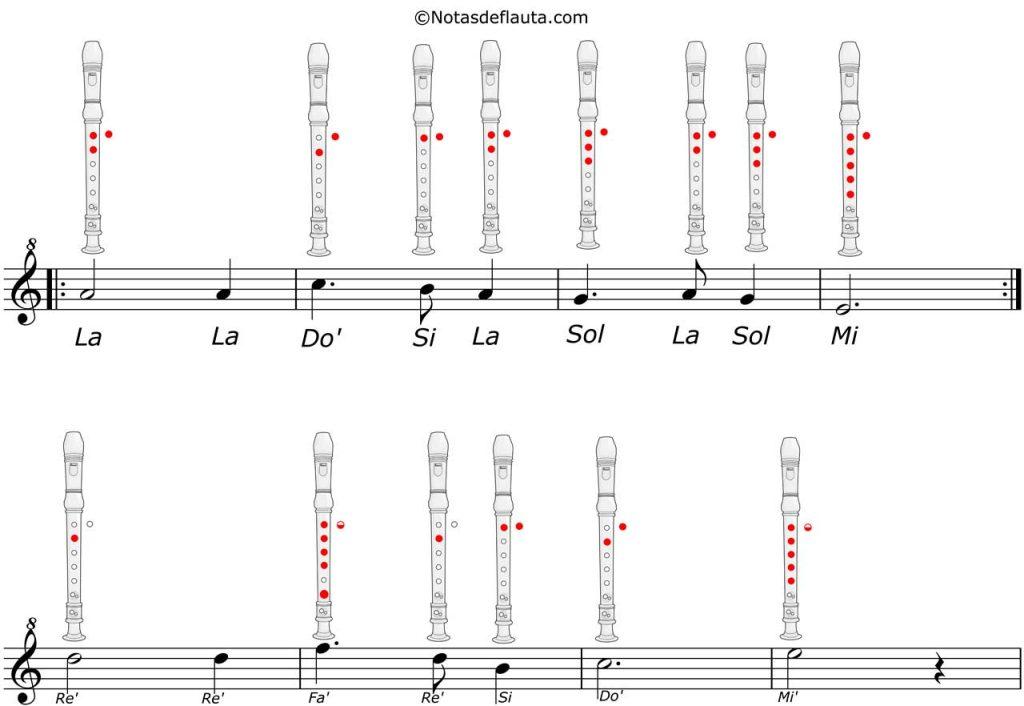 noche de paz partitura flauta