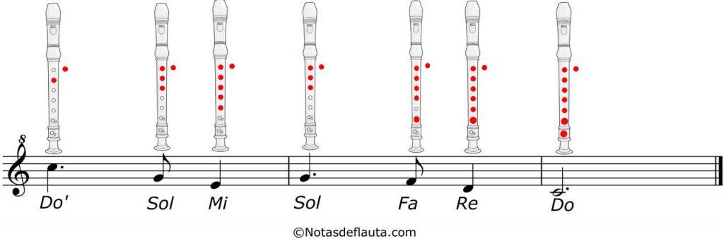 partitura de flauta de noche de paz parte 3