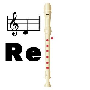 re grave en flauta
