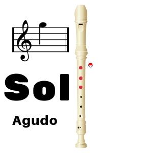 sol agudo flauta dulce