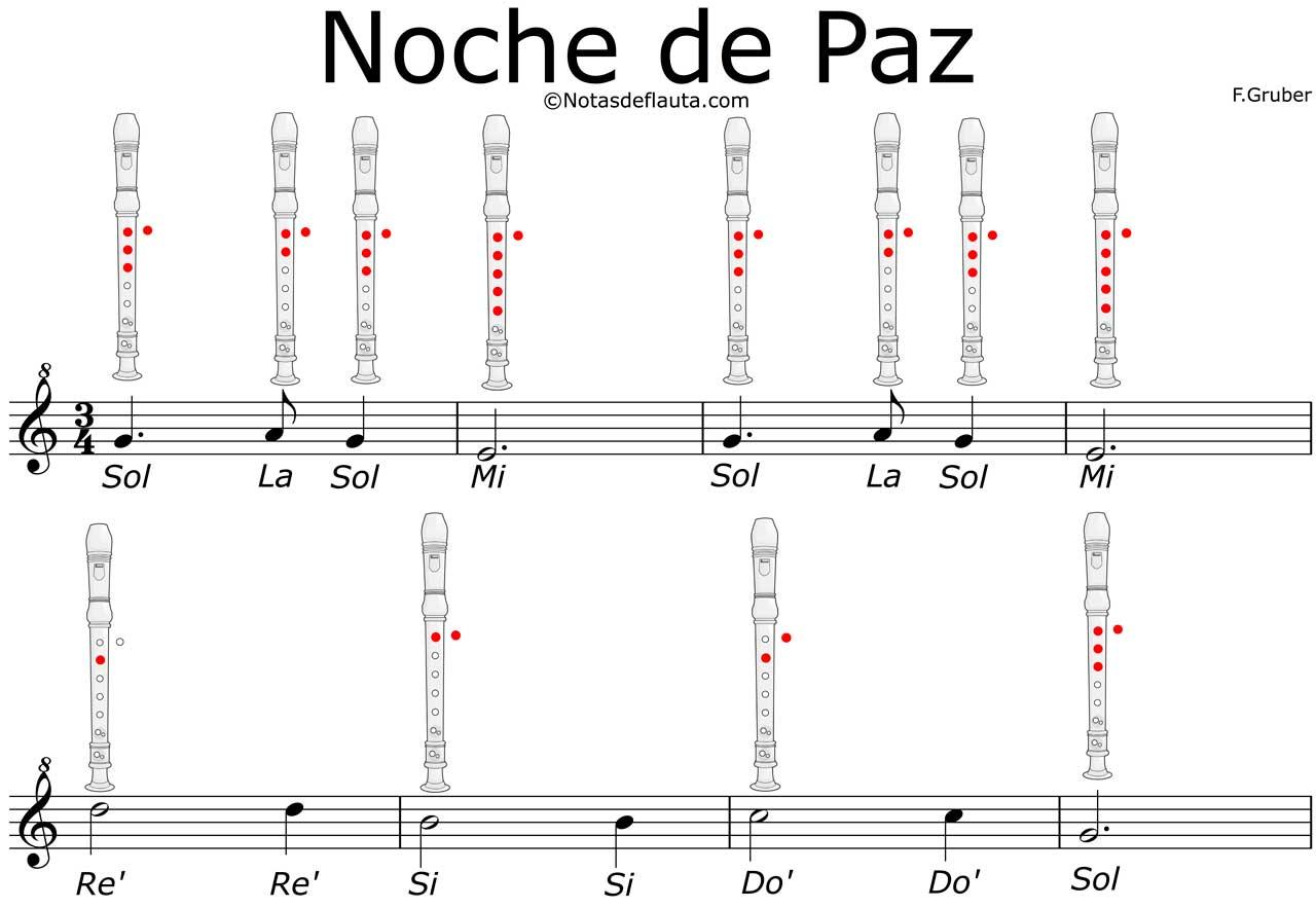 Noche De Paz Con Flauta Dulce Notas Explicadas Pdf