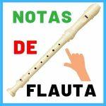 las notas de la flauta dulce