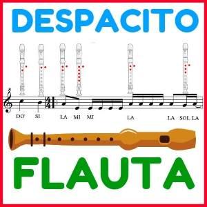 Notas de Flauta Despacito