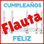 cumpleaños feliz en flauta