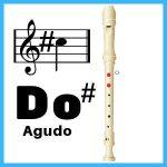 nota do sostenido agudo en flauta
