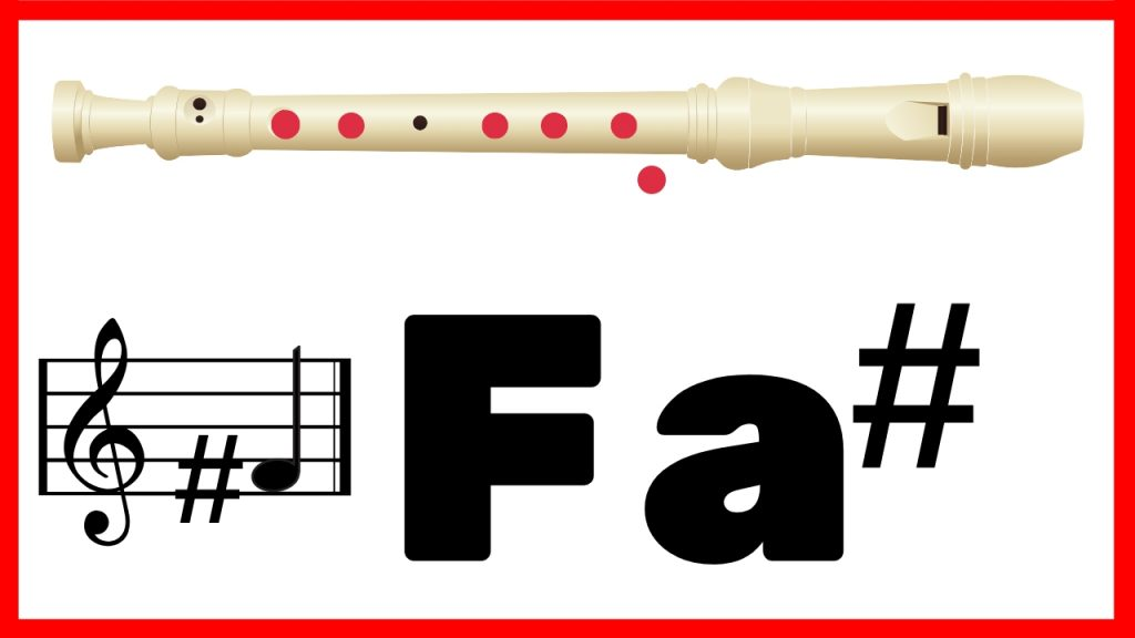 fa sostenido con la flauta dulce