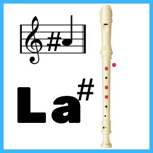 La sostenido en Flauta