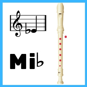 Mi bemol en Flauta