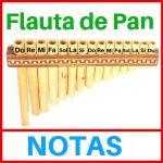 las notas en la flauta de pan