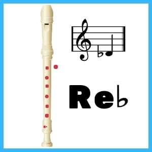 Re bemol en Flauta
