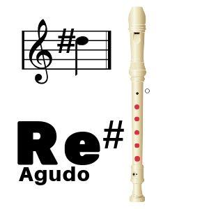 nota de flauta re sostenido agudo