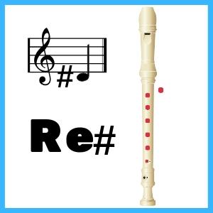 Re sostenido en Flauta