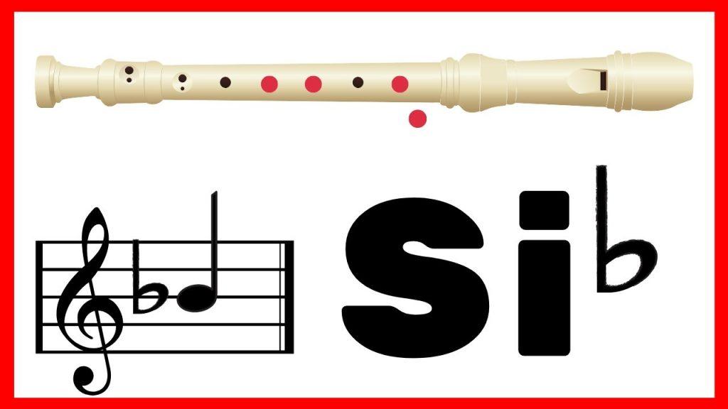 si bemol en flauta