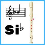 posición en flauta de si bemol