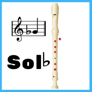Sol bemol en Flauta Dulce