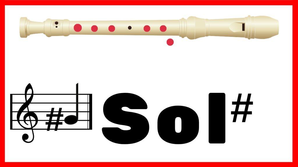 sol sostenido en flauta