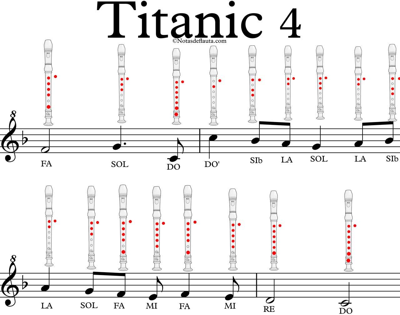 Titanic En Flauta Notas De Flauta Quieres Tocarla