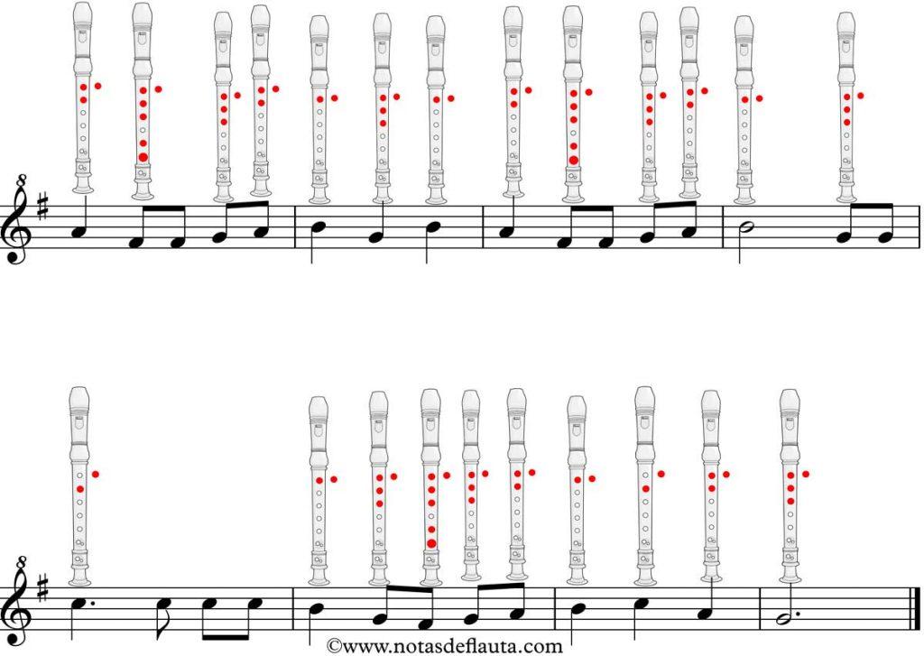 mañanitas en flauta